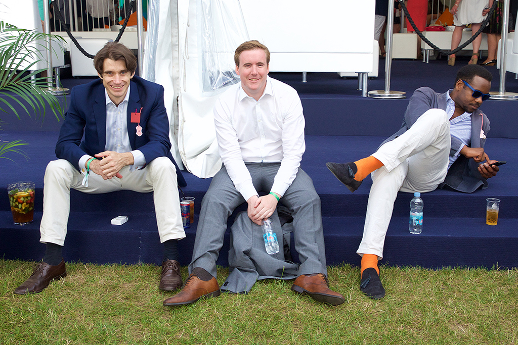 On the banks of the Thames River at the Henley Royal Regatta.