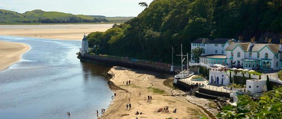 Reality takes on a whimsical edge in this unique hotel is nestled in the artists' village of Portmeirion, made famous of the cult 1960s TV show The Prisoner. Well worth it for the photo opportunities alone.  From £130 per night, Portmeirion-village.com