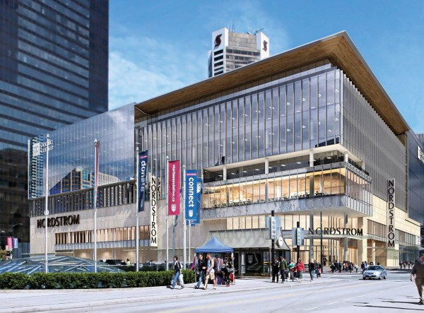 RENDERINGS OF THE NEW NORDSTROM FLAGSHIP AT HOWE AND ROBSON (PHOTO: GRANT HARDER)