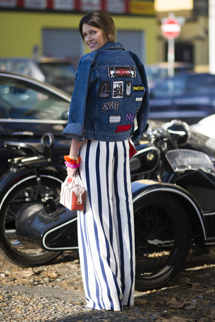 MILAN, ITALY - FEBRUARY 23: Helena Bordon seen wearing Tommy Hilfiger pants outside the Marni show on February 23, 2014 in Milan, Italy.  (Photo by Timur Emek/Getty Images)