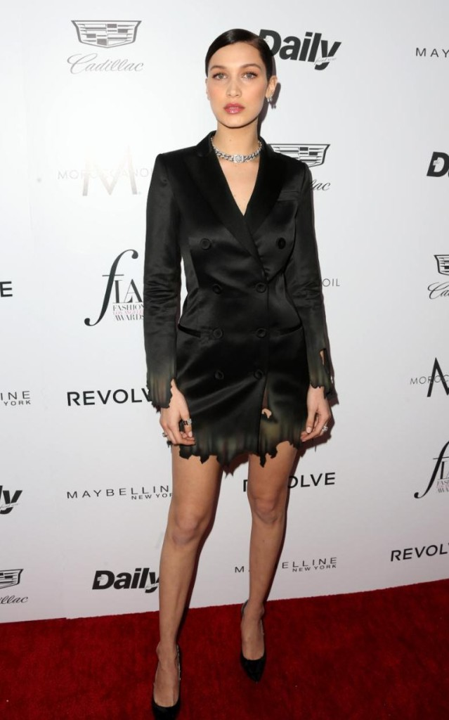 California girl Bella Hadid, who scooped the Model of the Year Award, Getty