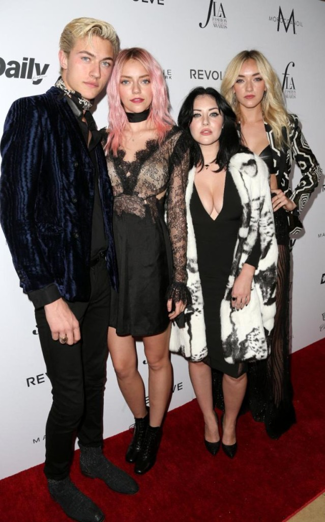 Top male model Lucky Blue Smith with siblings Pyper America Smith, Starlie Smith and Daisy Clementine Smith, Getty