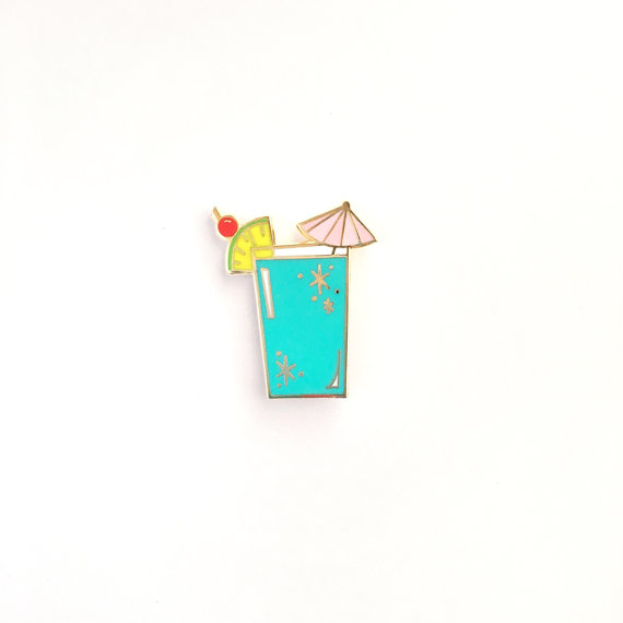 Retro Cocktail Pin, by TheUncommonPlace