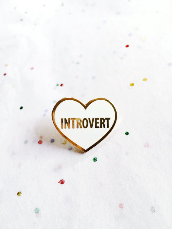 Introvert Lapel Pin, by shopluellatx
