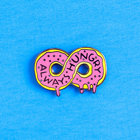 Always Hungry Doughnut Pin, by dannybrito