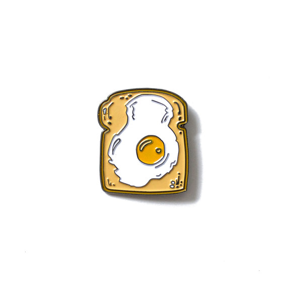 Egg On Toast Pin, by Heather Buchanan