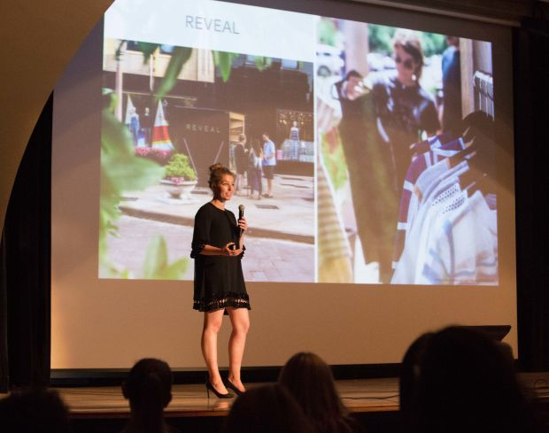 Megan Berry, CEO of By Reveal, on Demo Day. Photo: XRC Labs