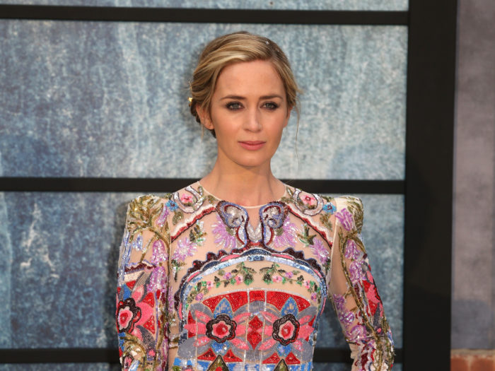 "LONDON, ENGLAND - SEPTEMBER 20:  Emily Blunt attends ""The Girl On The Train"" world premiere at Odeon Leicester Square on September 20, 2016 in London, England.  (Photo by Fred Duval/FilmMagic)"