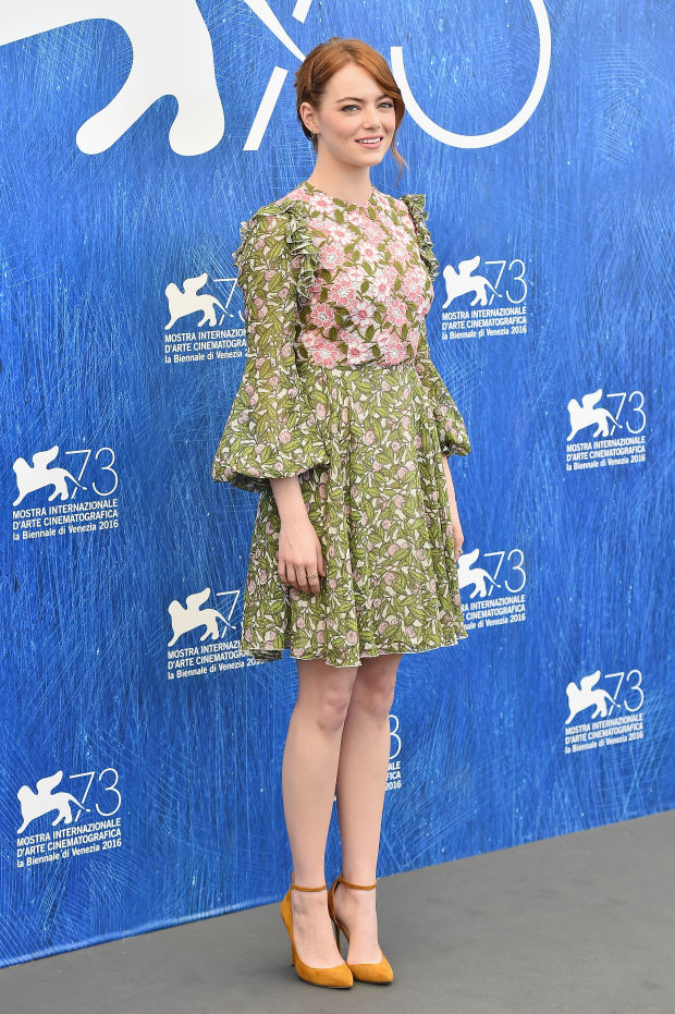 Emma Stone attends a photocall for 'La La Land' during the 73rd Venice Film Festival. Photo: Stefania D'Alessandro/Getty Images