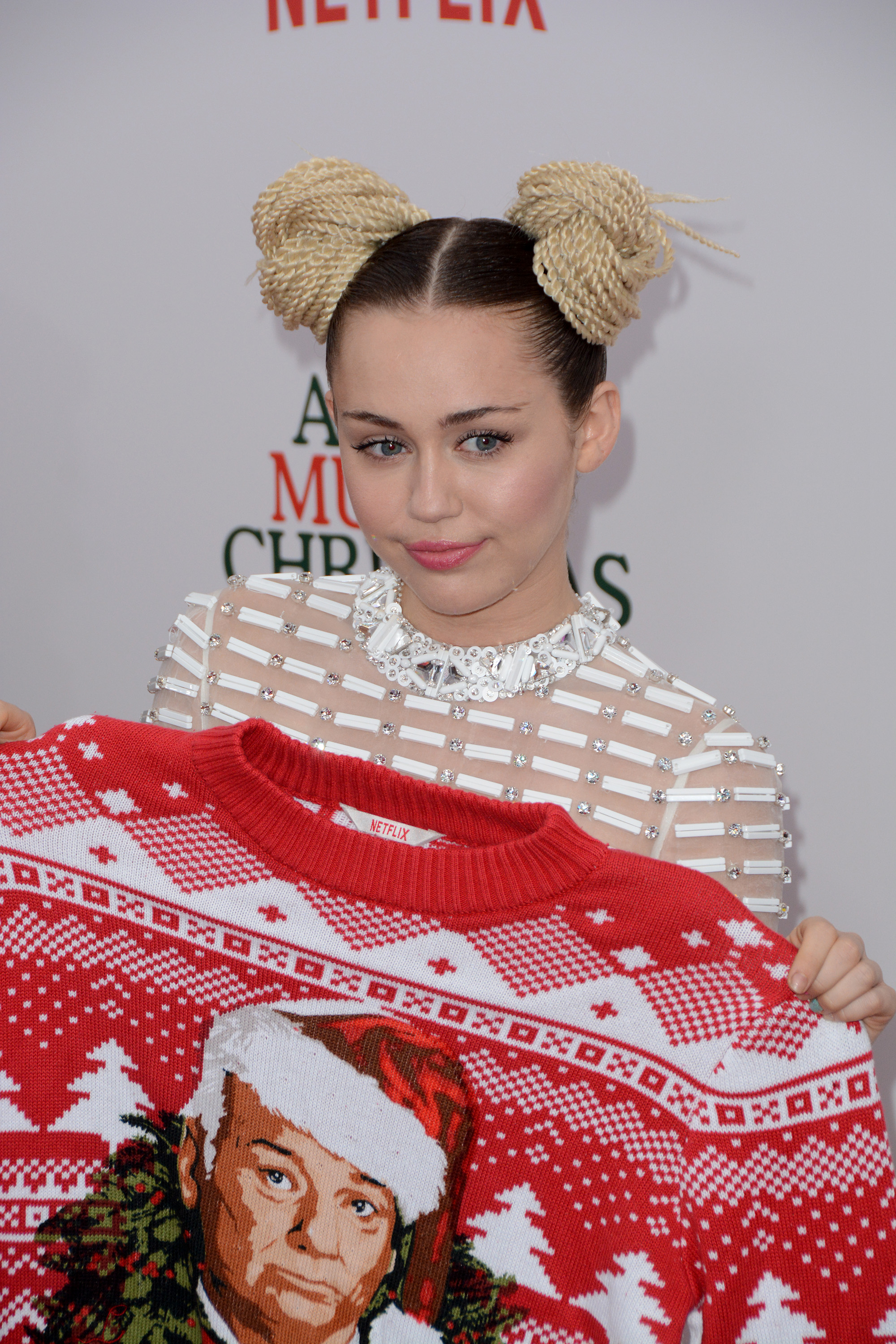"""A Very Murray Christmas"" New York Premiere - Red Carpet Arrivals  Featuring: Miley Cyrus Where: New York, New York, United States When: 02 Dec 2015 Credit: Ivan Nikolov/WENN.com"