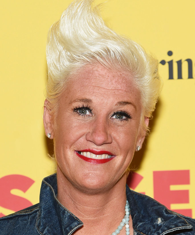 "NEW YORK, NY - AUGUST 04:  Chef Anne Burrell attends the premiere of ""Sausage Party""  at Sunshine Landmark on August 4, 2016 in New York City.  (Photo by Jamie McCarthy/Getty Images)"