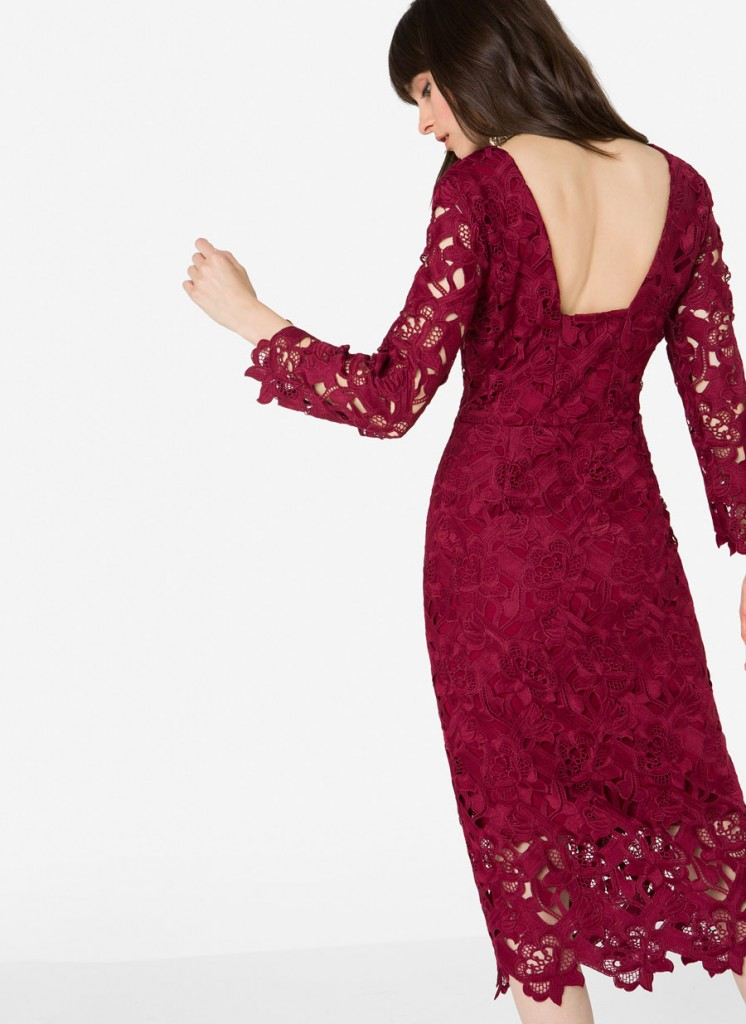 Lace dress, €150 at uterque.com