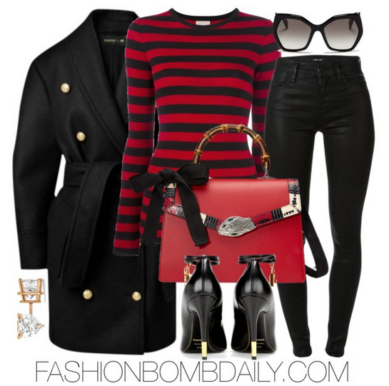 fall-2016-style-inspiration-5-fab-ways-to-wear-stripes-balmain-x-hm-coat-tom-ford-embellished-leather-pump-gucci-lilith-leather-bag
