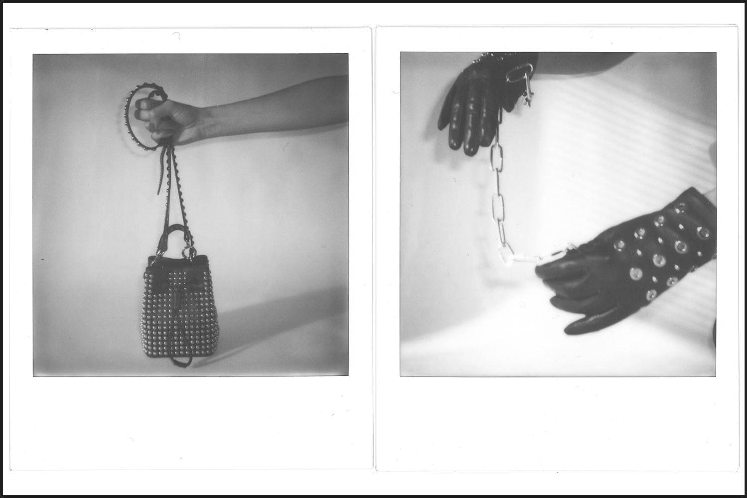 Left: Bag from Kenzo Right: Gloves from Max&Co, Chain from Modular