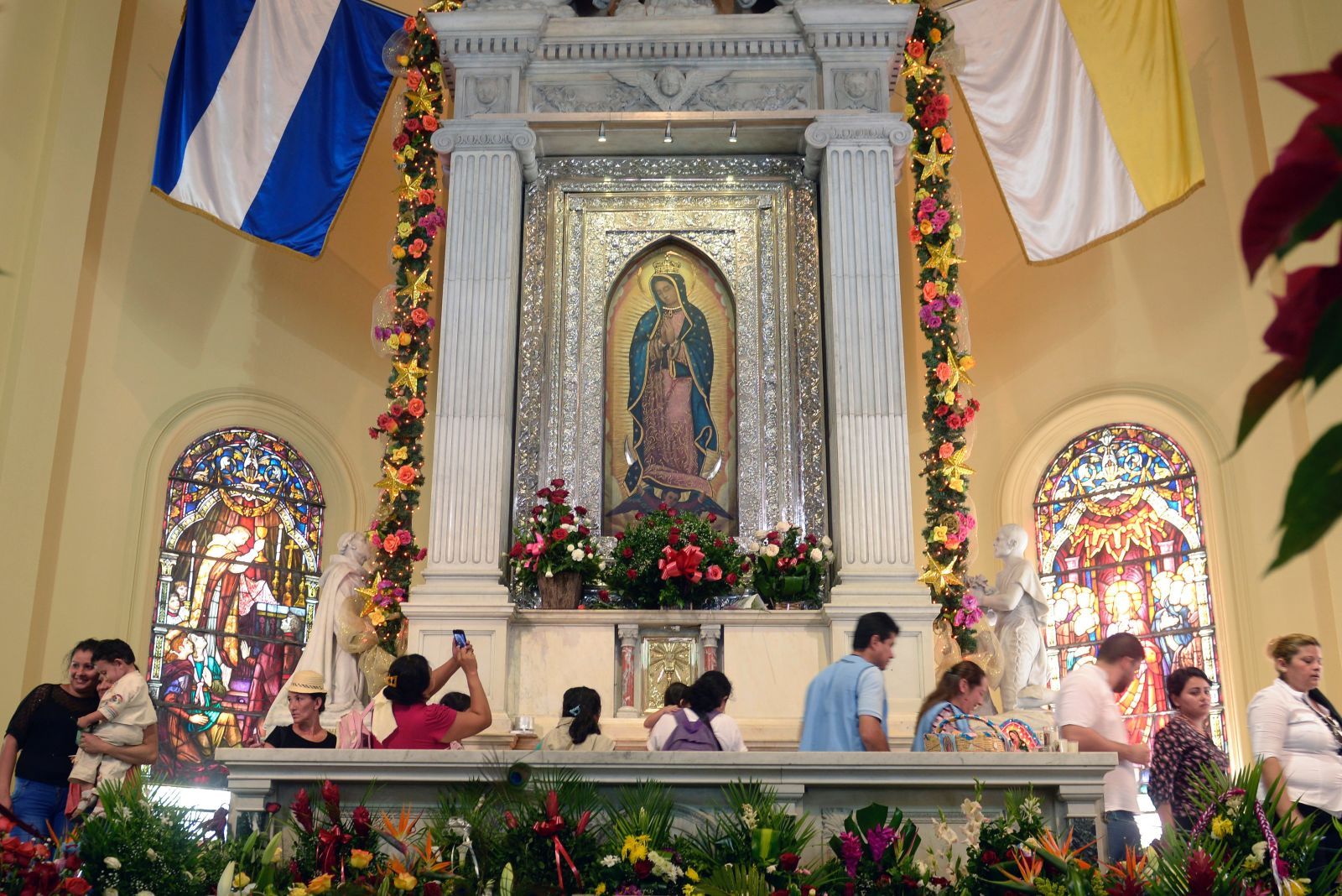 An image of the Virgin of Guadalupe at the Guadalupe Basilica in Antiguo Cuscatlan, El Salvador.  / Getty