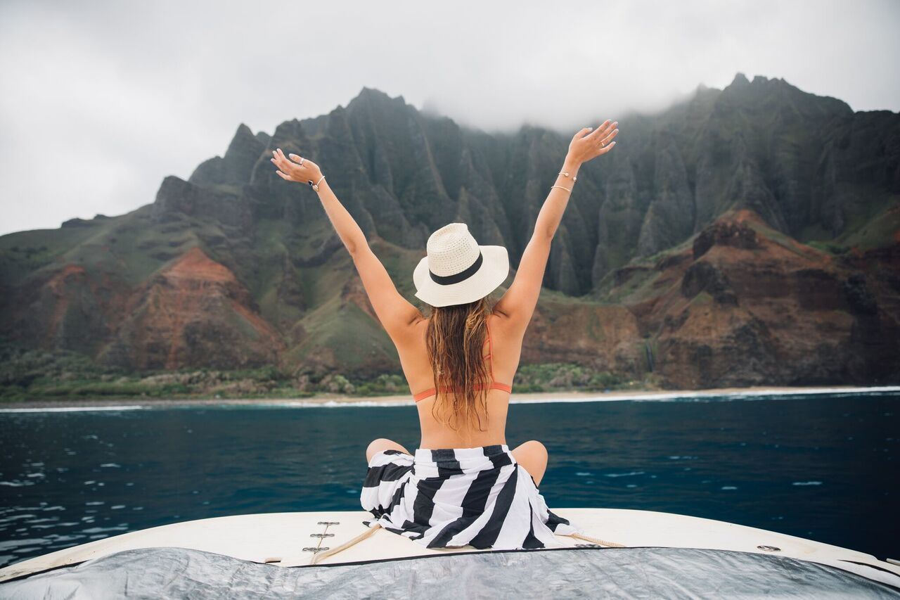 The Na Pali Coast Boat Ride. Talk about picture perfect moment.  / Bryce Johnson