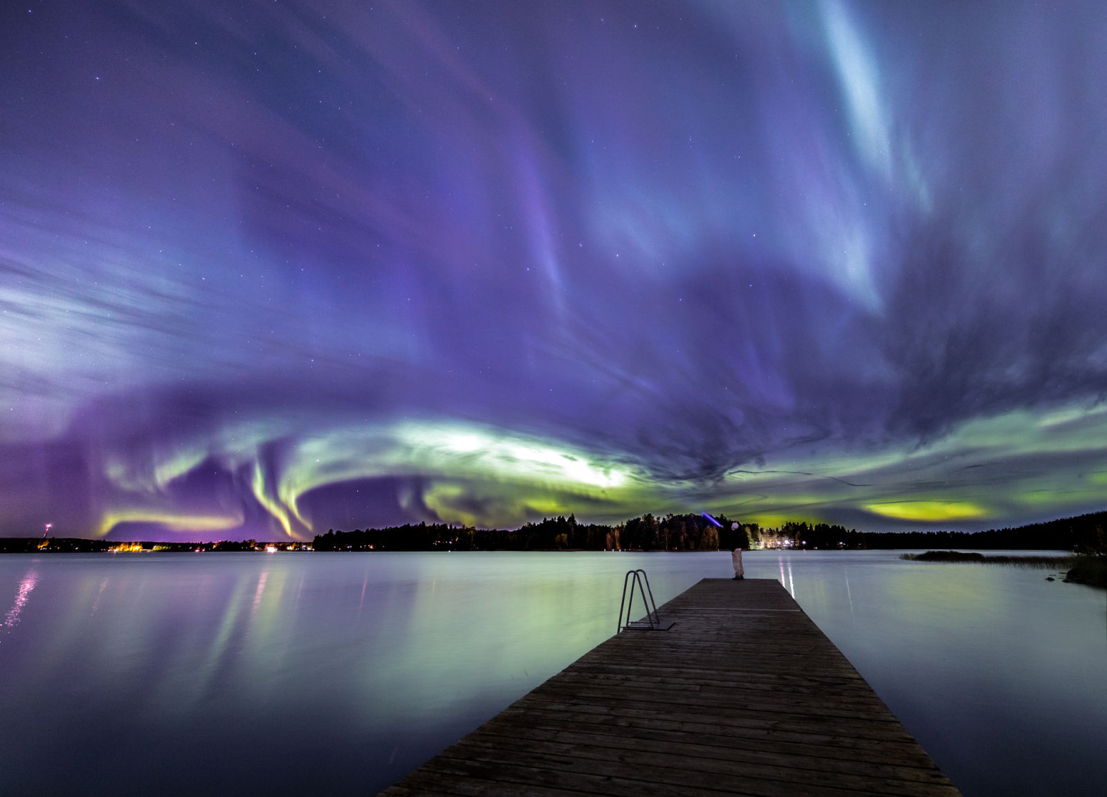 Two reasons we love Finland: It's safe and you can see the Northern Lights there.  / Getty