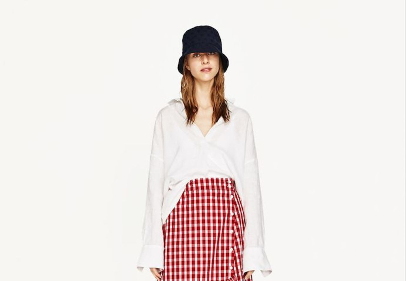zara-red-gingham-skirt