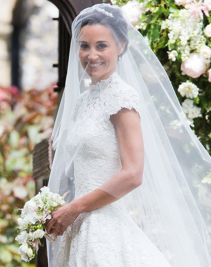 ENGLEFIELD GREEN, ENGLAND - MAY 20:  Pippa Middleton attends the wedding Of Pippa Middleton and James Matthews at St Mark's Church on May 20, 2017 in Englefield Green, England.  (Photo by Pool/Samir Hussein/WireImage)
