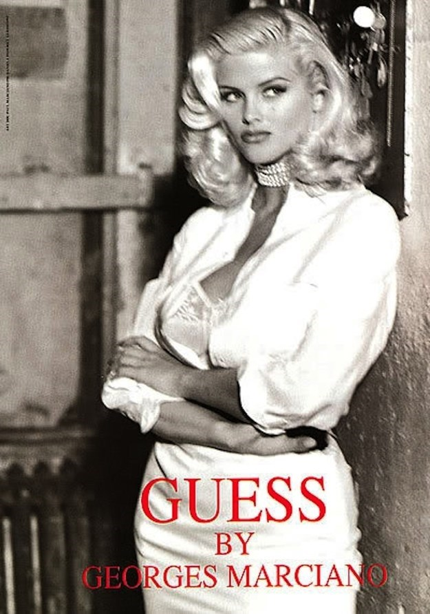 Anna Nicole Smith for Guess (1993)Photography by Daniela Federici