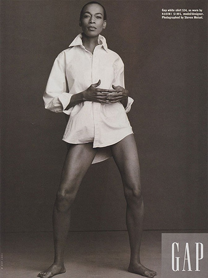 Naomi Sims for GAP (1993)Shot by Steven Meisel