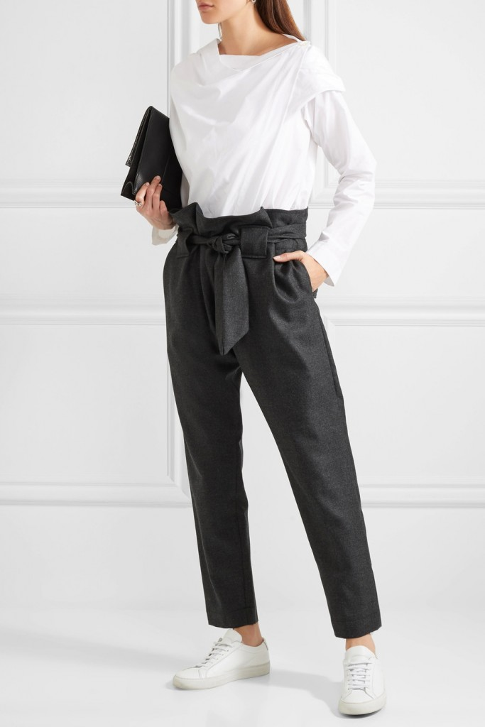 Kung Fu tapered wool pants, Vivienne Westwood Anglomania, €405 at Net-A-Porter