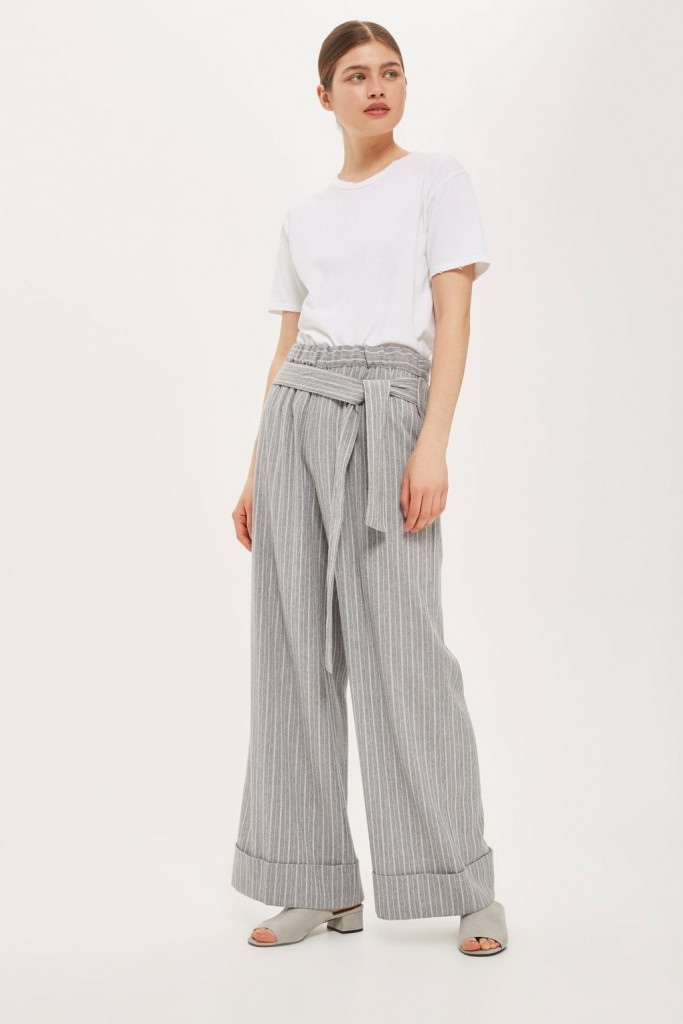 Wide-leg striped trousers, €60 at Topshop