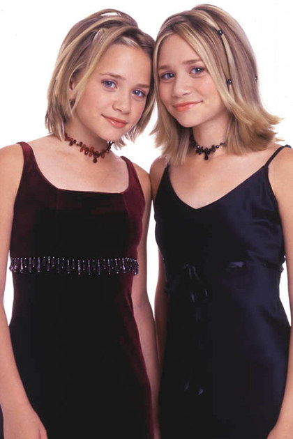 Empire lines and tattoo chokers: teenage Olsen twins were the epitome of nineties empire silhouette