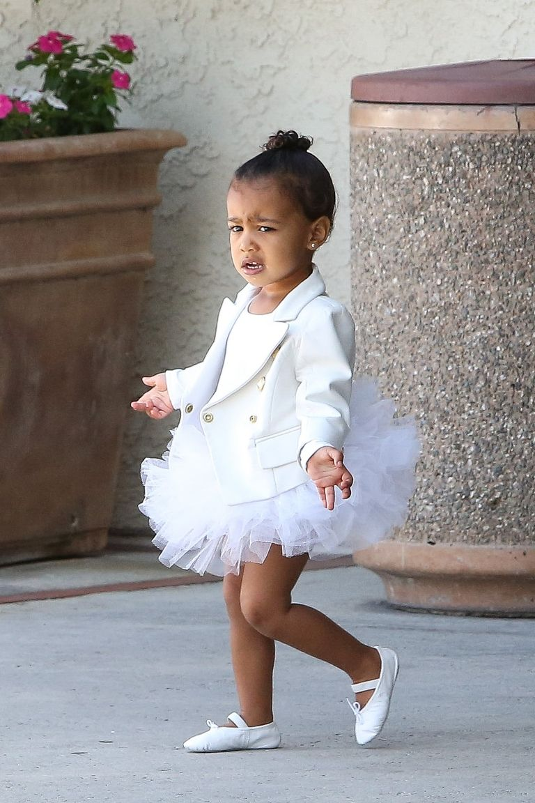 North West leaving ballet class in Balmain  / Splash