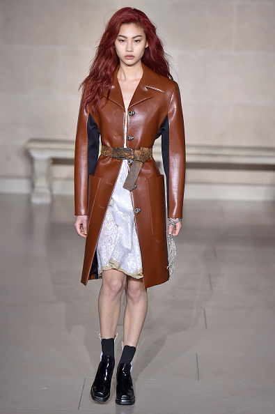 PARIS, FRANCE - MARCH 07:  A model walks the runway at the Louis Vuitton Autumn Winter 2017 fashion show during Paris Fashion Week on March 7, 2017 in Paris, France.  (Photo by Catwalking/Getty Images)