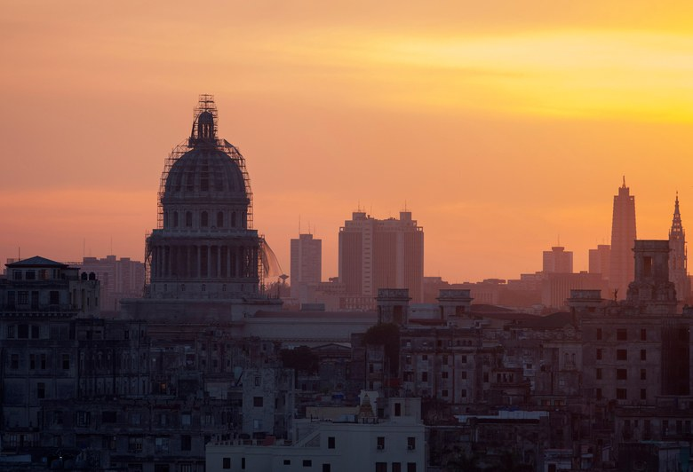 The El Capitolio at dusk in Havana, Cuba. Photo: Alamy