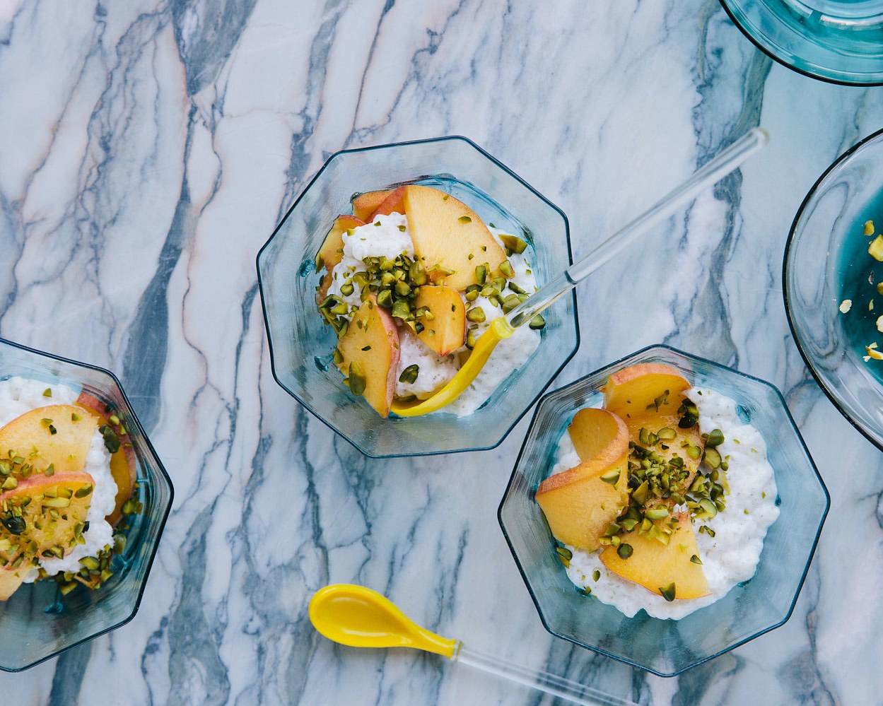 tapioca-pearl-pudding-with-grilled-peaches-and-pistachios
