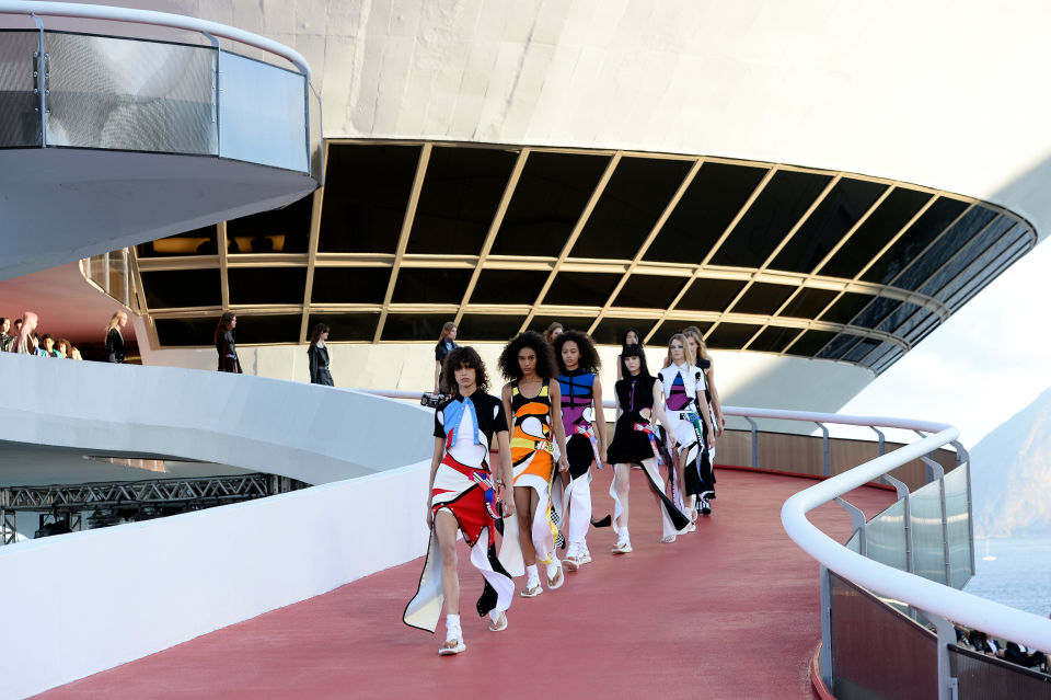 The Louis Vuitton Cruise 2017 runway show in Niteroi, Brazil. Photo: Fernanda Calfat/Getty Images