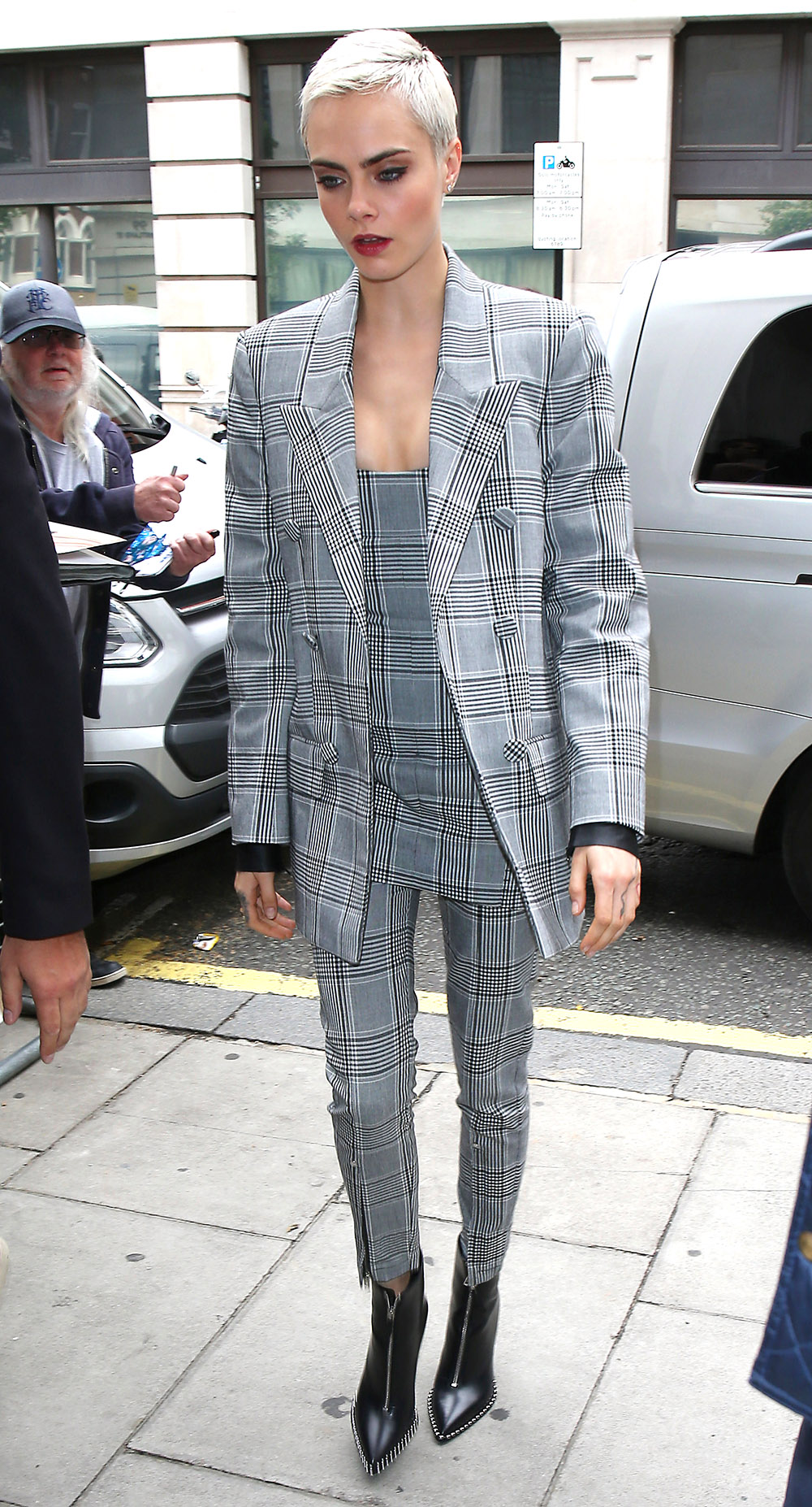 LONDON, ENGLAND - JULY 24:  Cara Delevingne seen at BBC Radio 2 promoting new movie 'Valerian' on July 24, 2017 in London, England.  (Photo by Neil Mockford/GC Images)