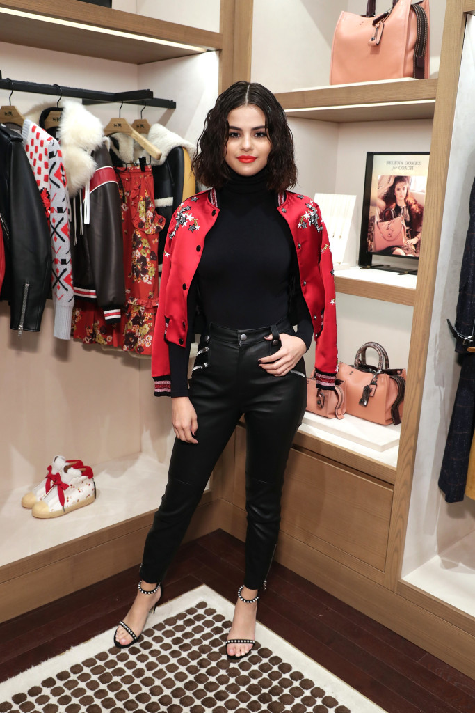 Selena Gomez Amps Up An All Black Outfit With The Perfect