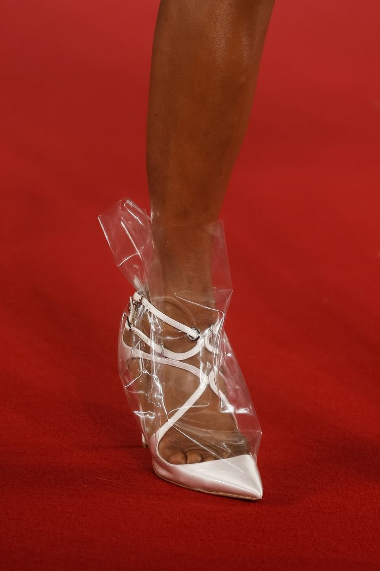 Only Rihanna Could Make These Plastic Wrapped Shoes Look