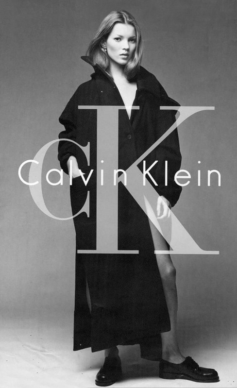 Kate Moss for Calvin Klein AW94, by Patrick Demarchelier