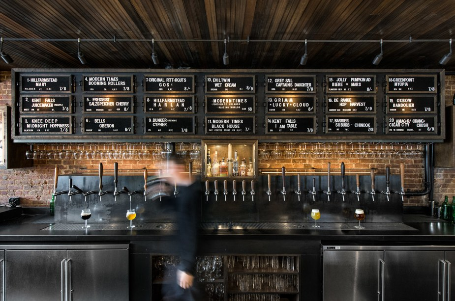The tap list at As Is  / Photo by Benjamin Pratt