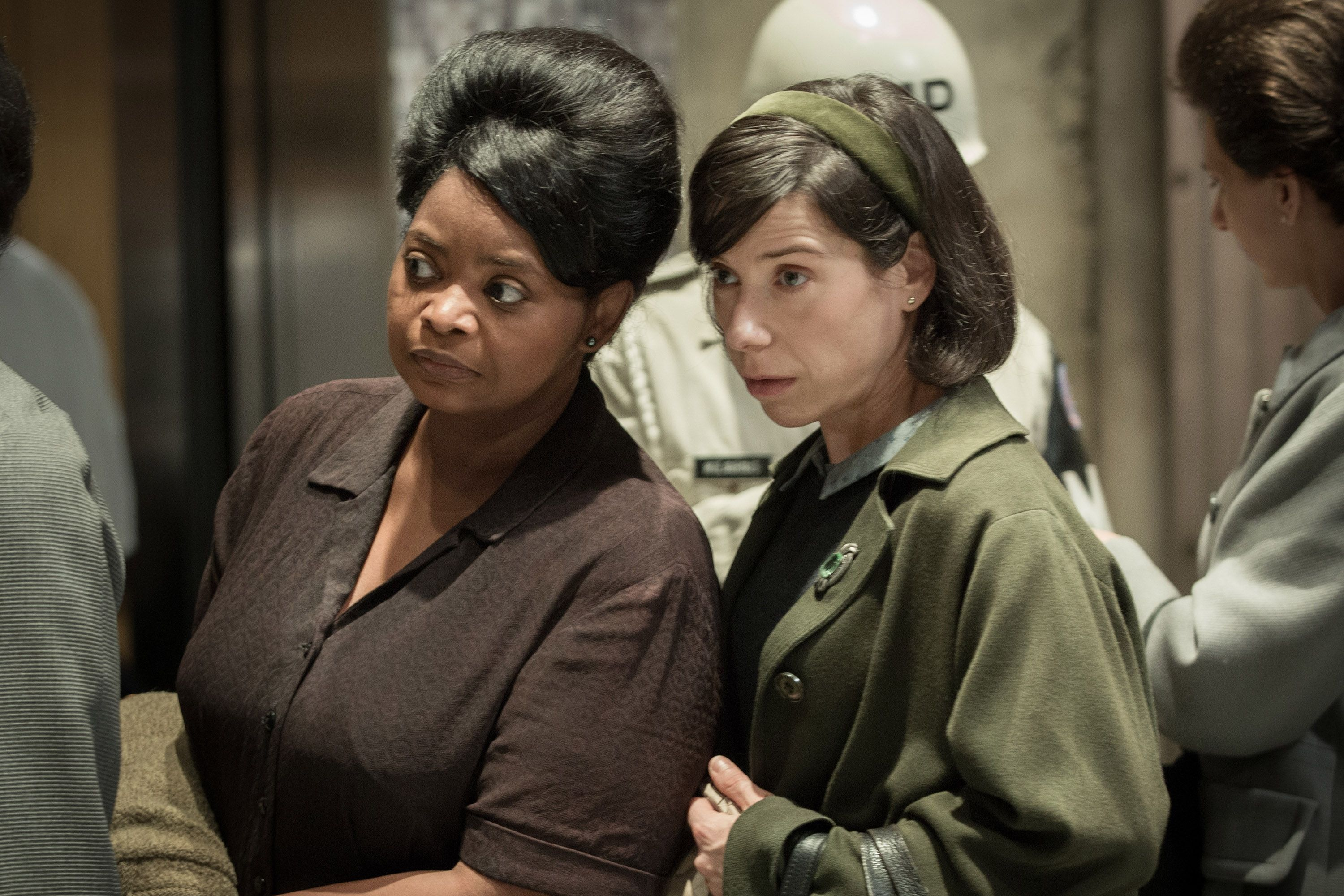 Spencer and Sally Hawkins in The Shape of Water.  / COURTESY FOX SEARCHLIGHT PICTURES