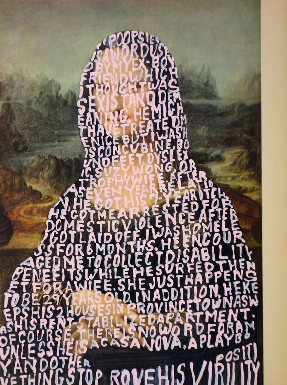 WOMEN WORDS #51 (DAVINCI) BY BETTY TOMPKINS  / COURTESY OF THE ARTIST AND P•P•O•W, NEW YORK