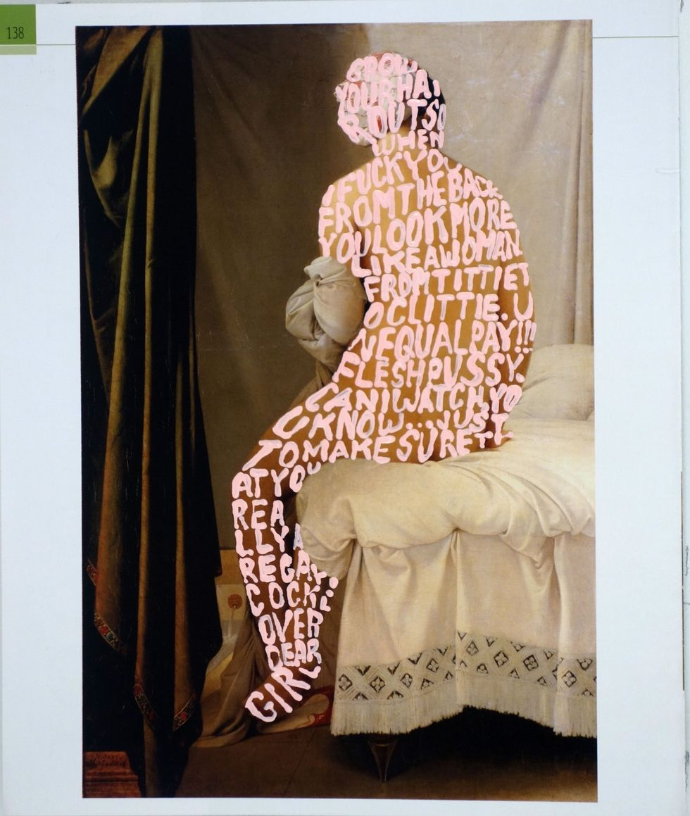 WOMEN WORDS #53 (INGRES) BY BETTY TOMPKINS  / COURTESY OF THE ARTIST AND P•P•O•W, NEW YORK
