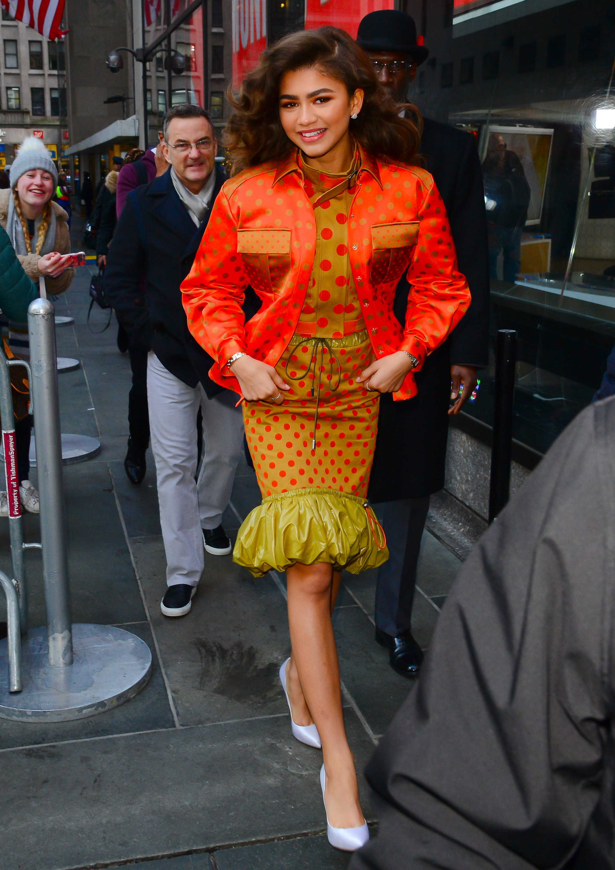 NEW YORK, NY - DECEMBER 11:  Actor Zendaya is seen outside the today show on December 11, 2017 in New York City.  (Photo by Raymond Hall/GC Images)
