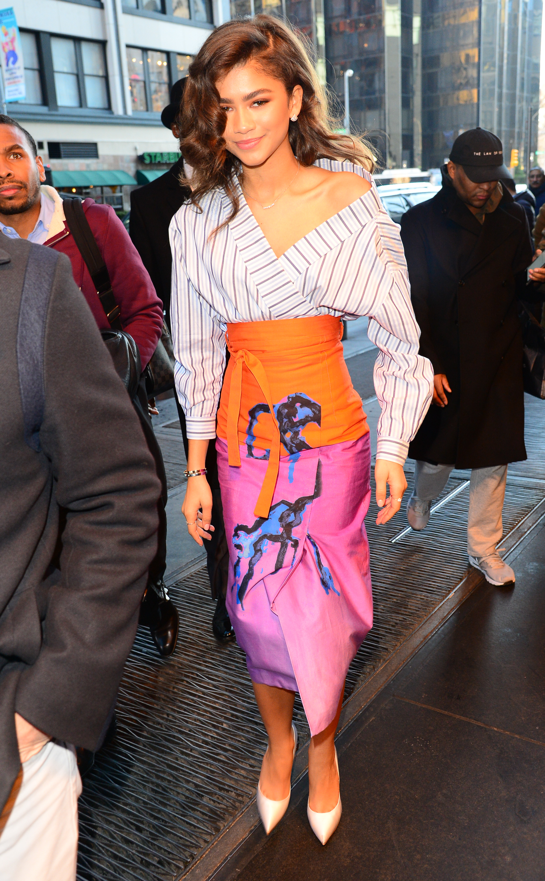 NEW YORK, NY - DECEMBER 11:  Actress Zendaya is seen walking in Midtown on December 11, 2017 in New York City.  (Photo by Raymond Hall/GC Images)
