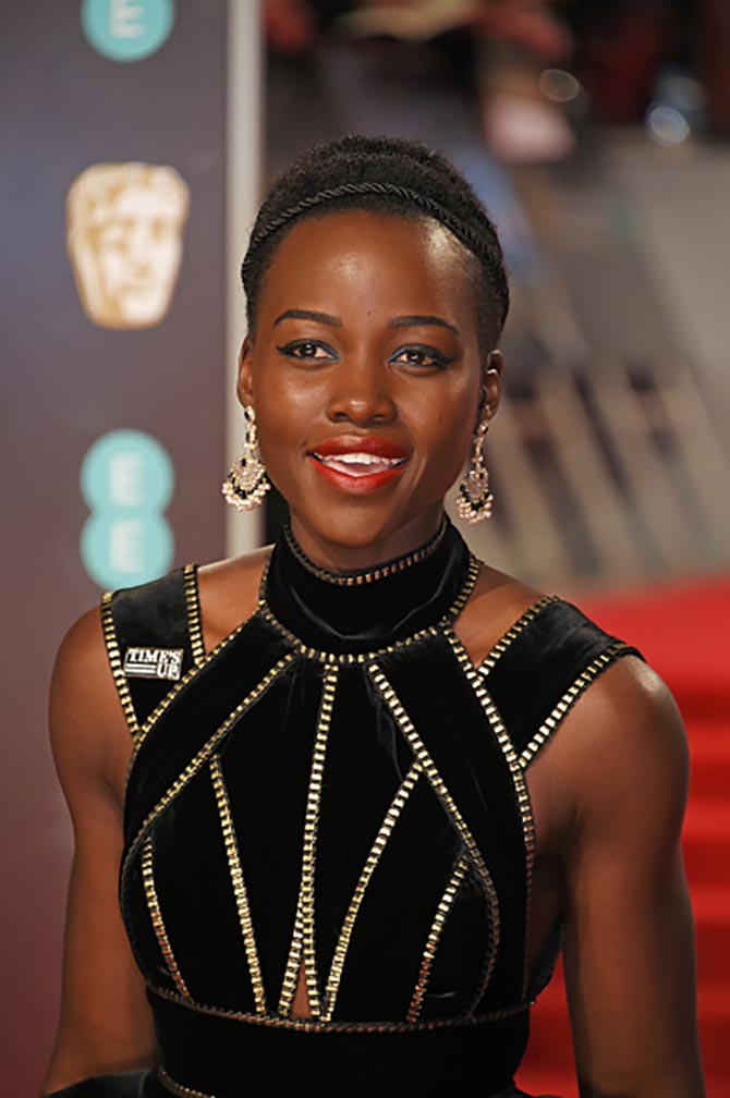 LONDON, ENGLAND - FEBRUARY 18:  Lupita Nyong'o attends the EE British Academy Film Awards (BAFTA) held at Royal Albert Hall on February 18, 2018 in London, England.  (Photo by David M. Benett/Dave Benett/Getty Images)