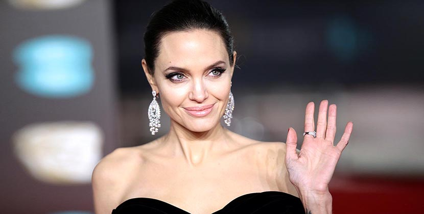 Angelina Jolie attending the EE British Academy Film Awards held at the Royal Albert Hall, Kensington Gore, Kensington, London. (Photo by Yui Mok/PA Images via Getty Images)
