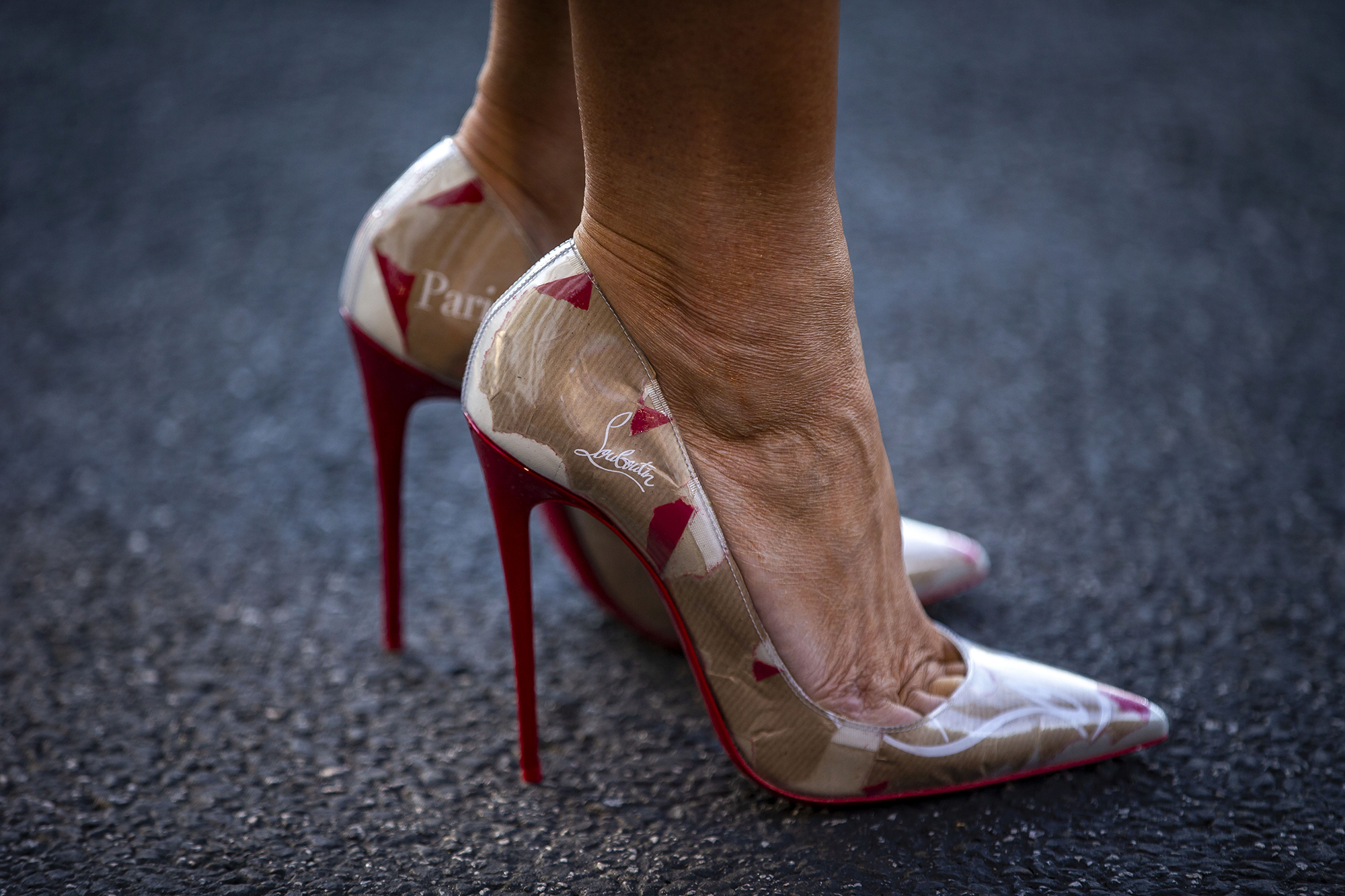 55d57381c29 Melania Trump s Travel Shoes Are Sky-High Louboutins