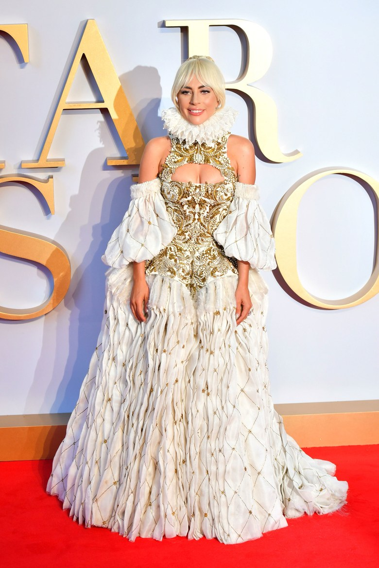 e8e2a19d54e Lady Gaga s Elizabethan Alexander McQueen Gown Has To Be Seen To Be Believed